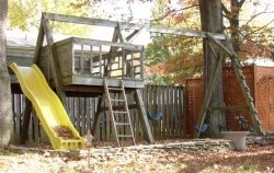 Comercial Timbers in Swing Set